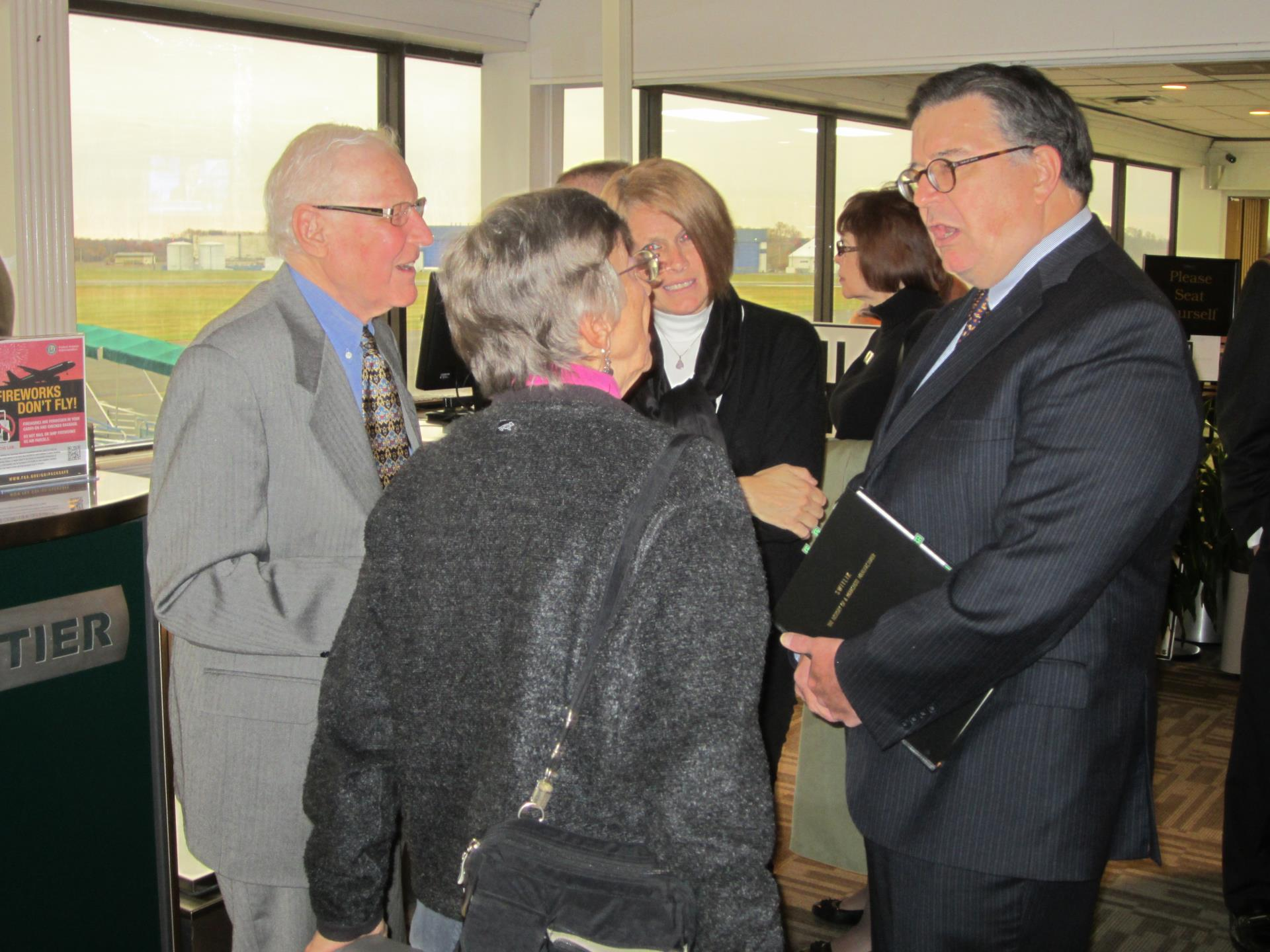 Trenton-Mercer Airport 85th anniversary, County Executive Hughes meets with constituents