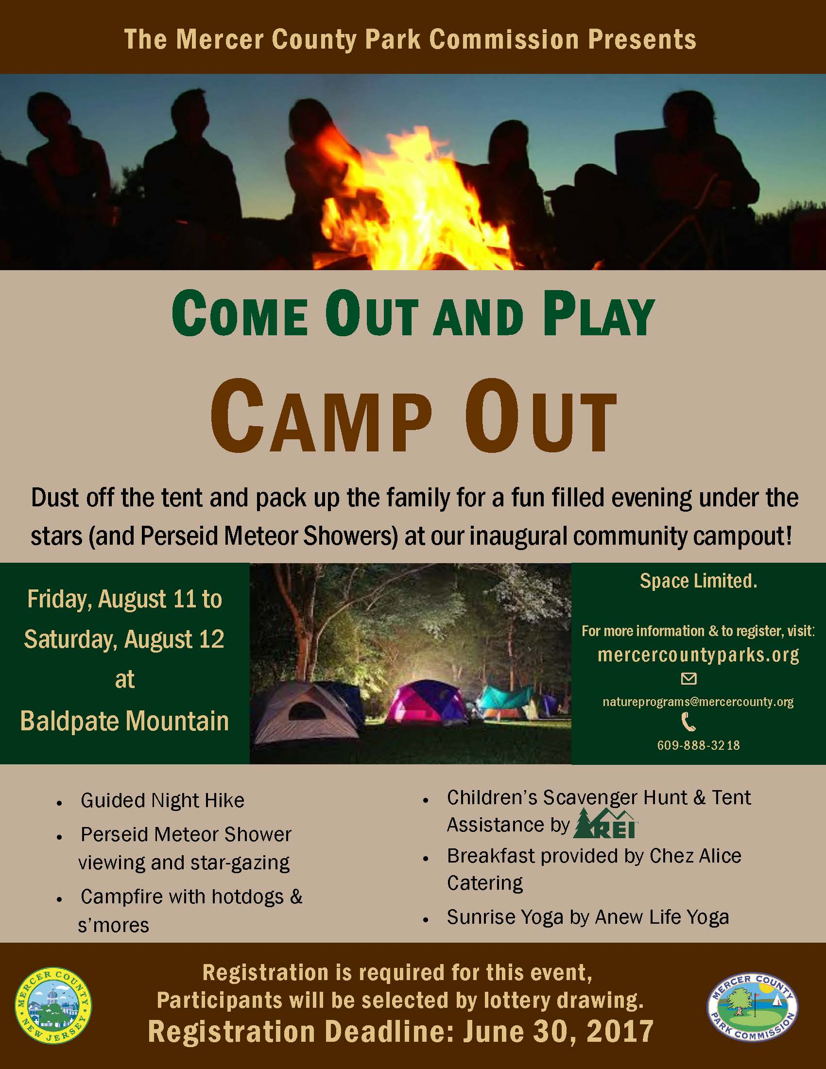 Park Commission Campout flier