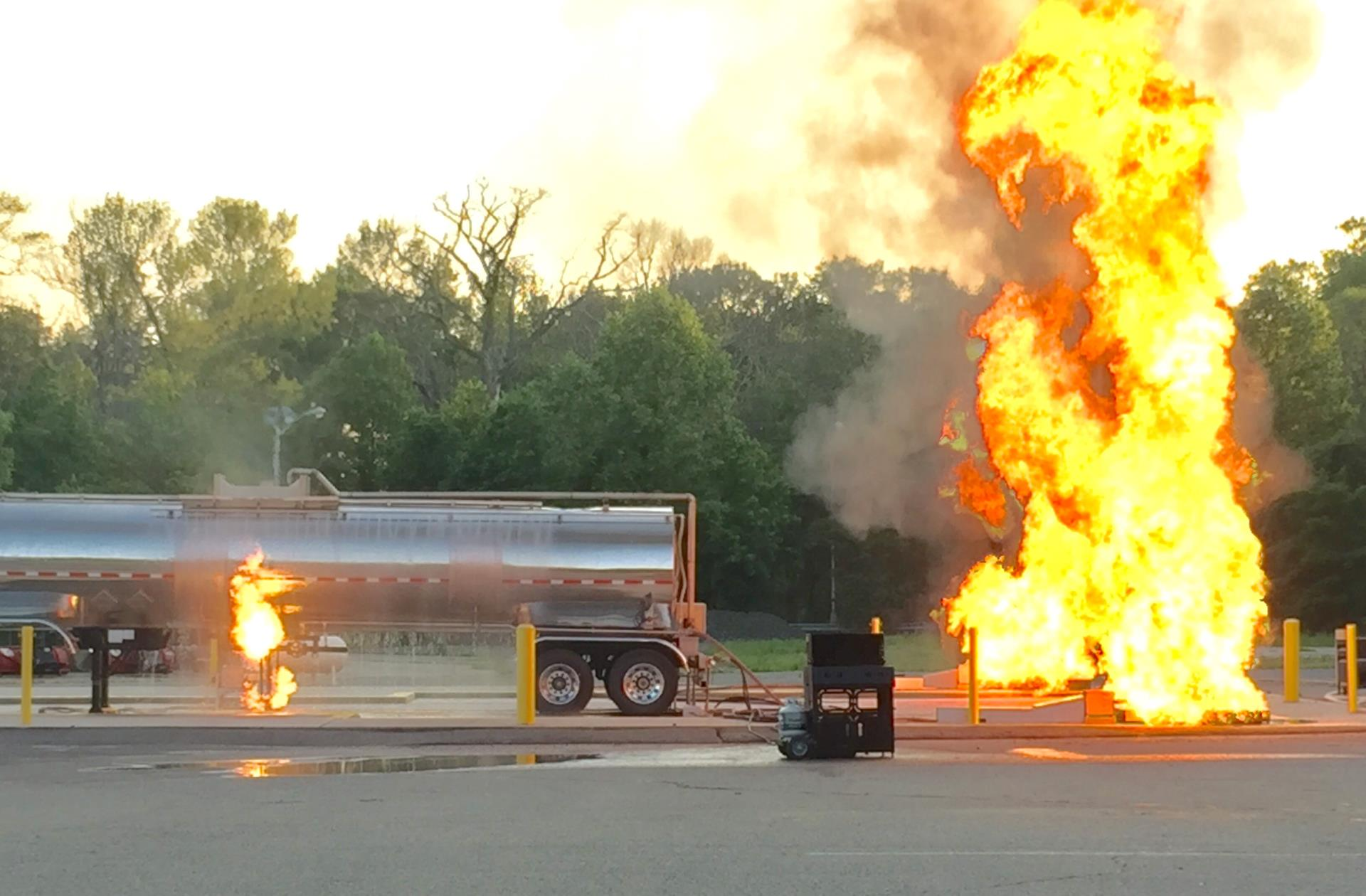 Fire Academy equipment demonstration