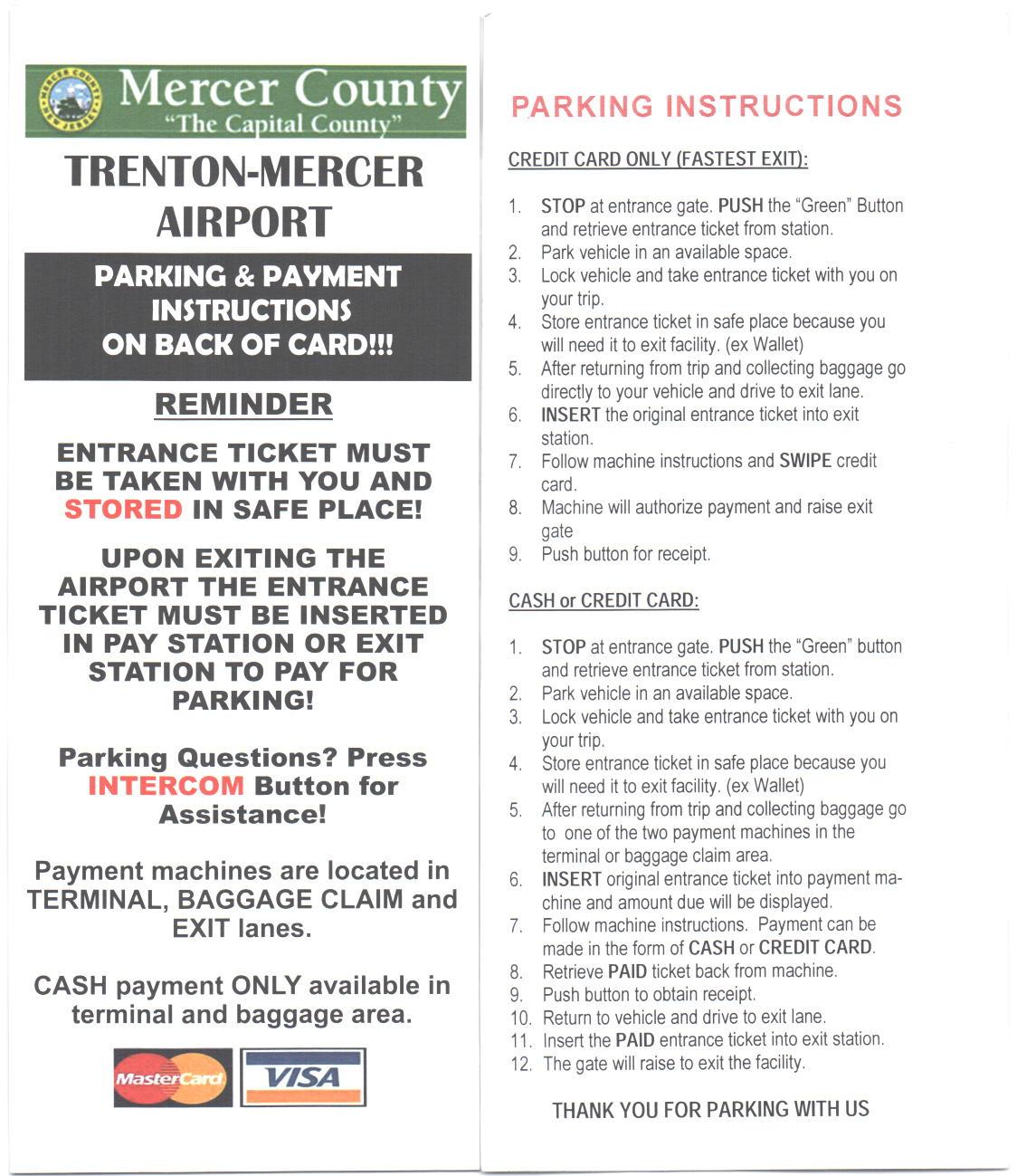Parking | Mercer County, NJ