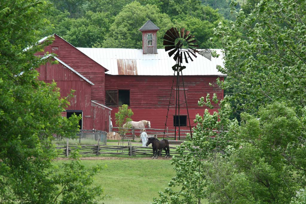 Howell Living History Farm windmill