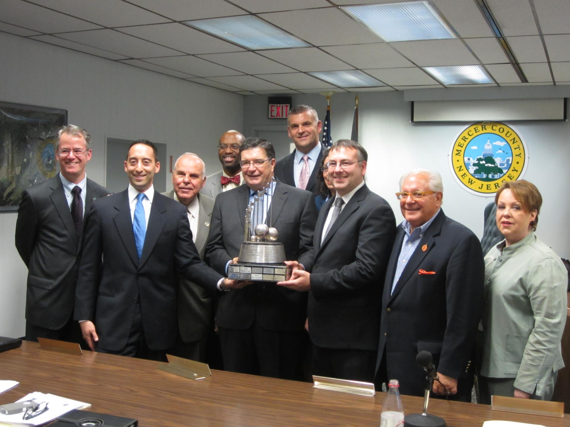 Trenton Thunder honored by Hughes, Freeholders