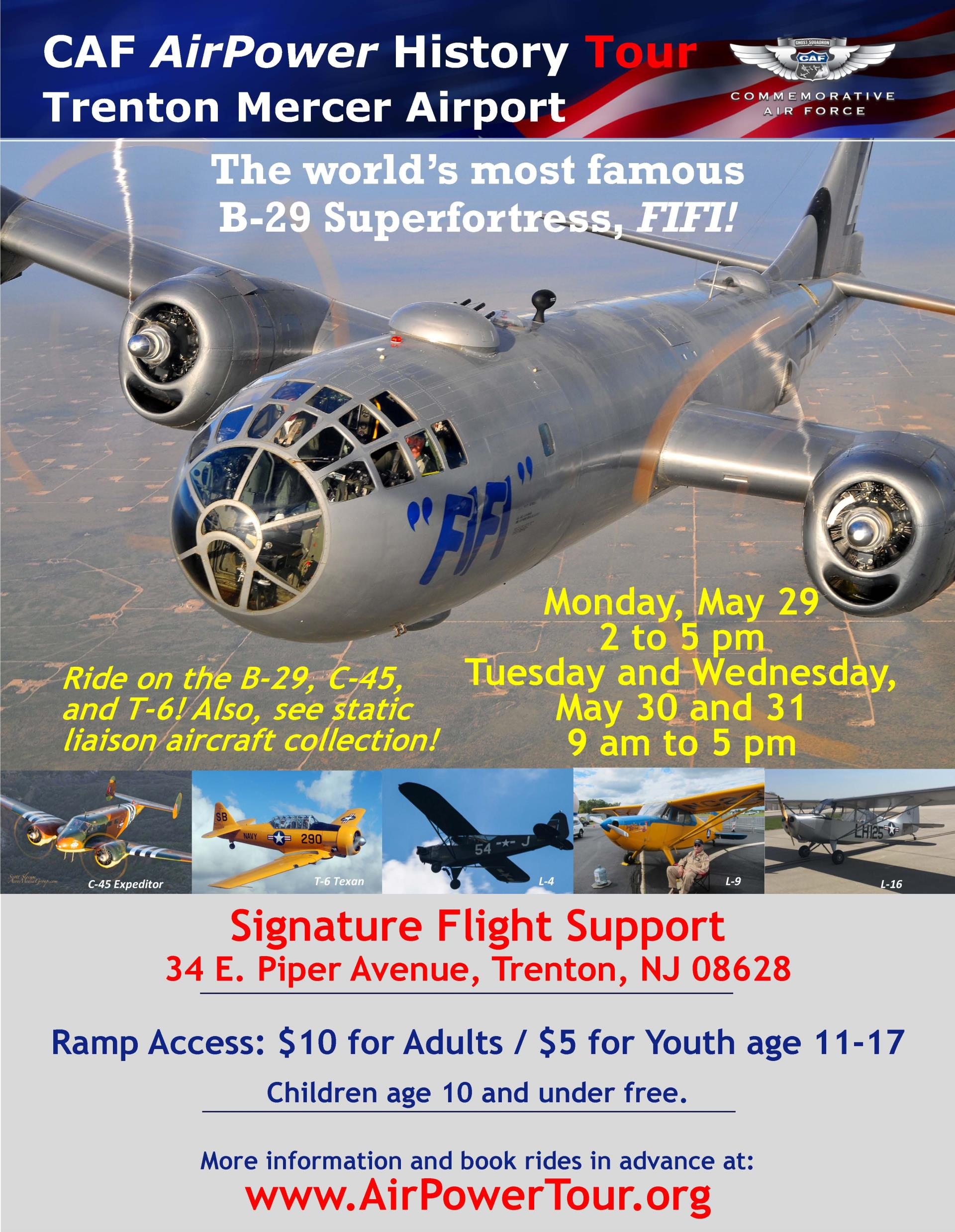 Iconic Boeing B-29 Superfortress will visit Trenton Mercer