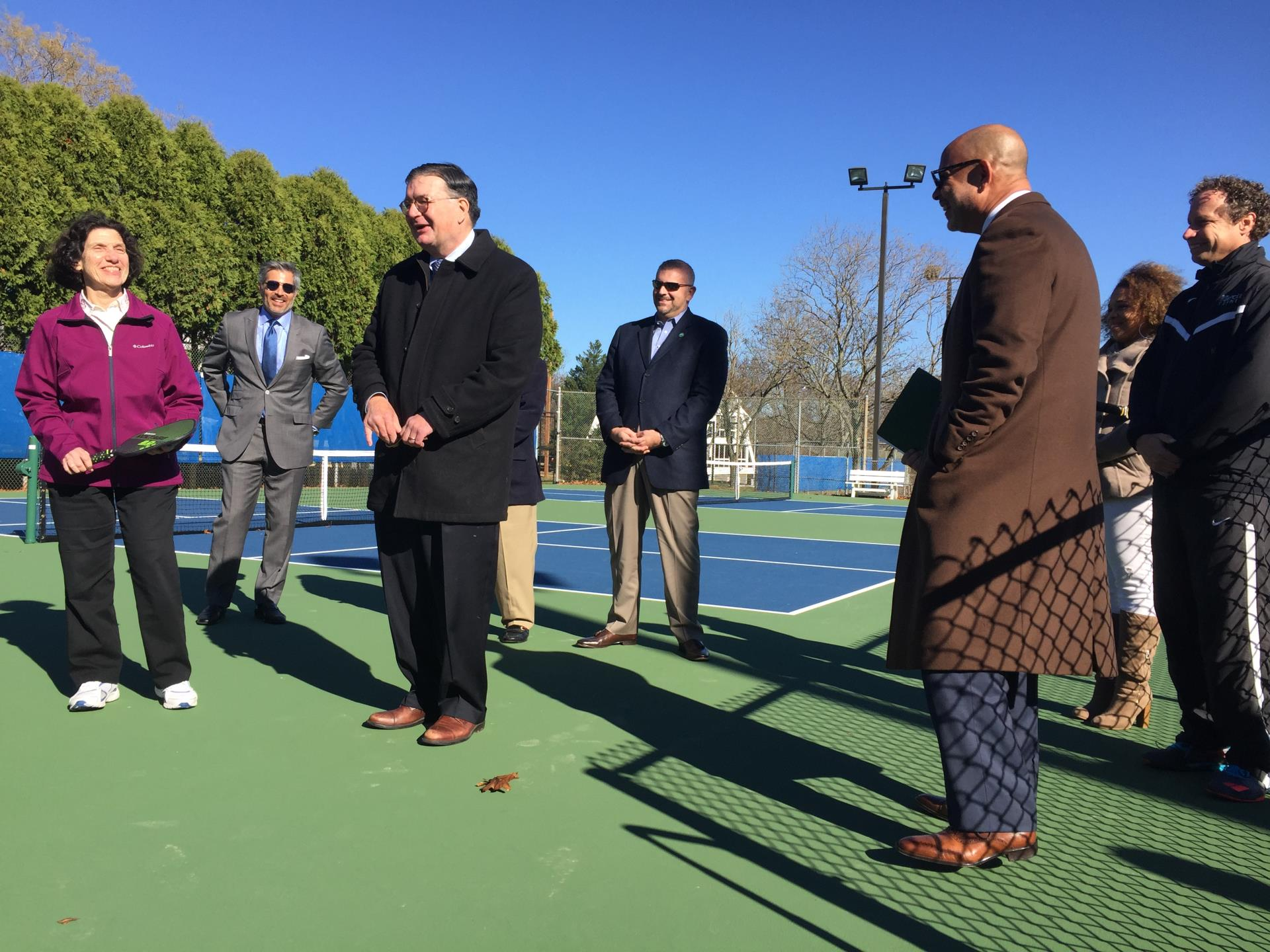 Pickleball courts dedication at Mercer County Tennis Center