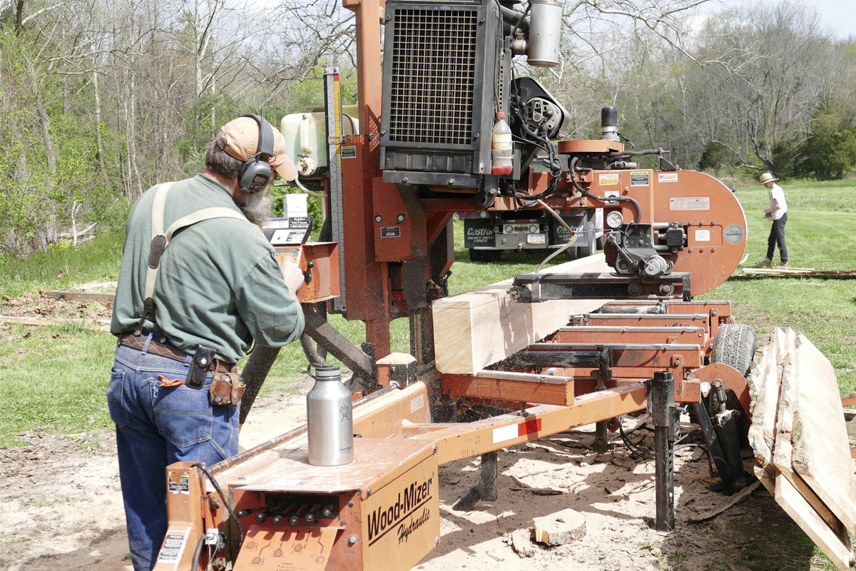 Sawmilling at Howell Farm