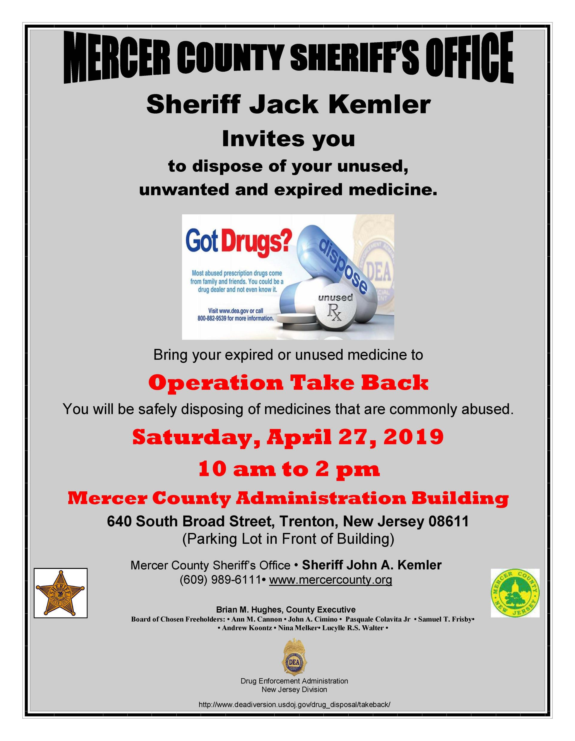 Operation Take Back Flyer 2019