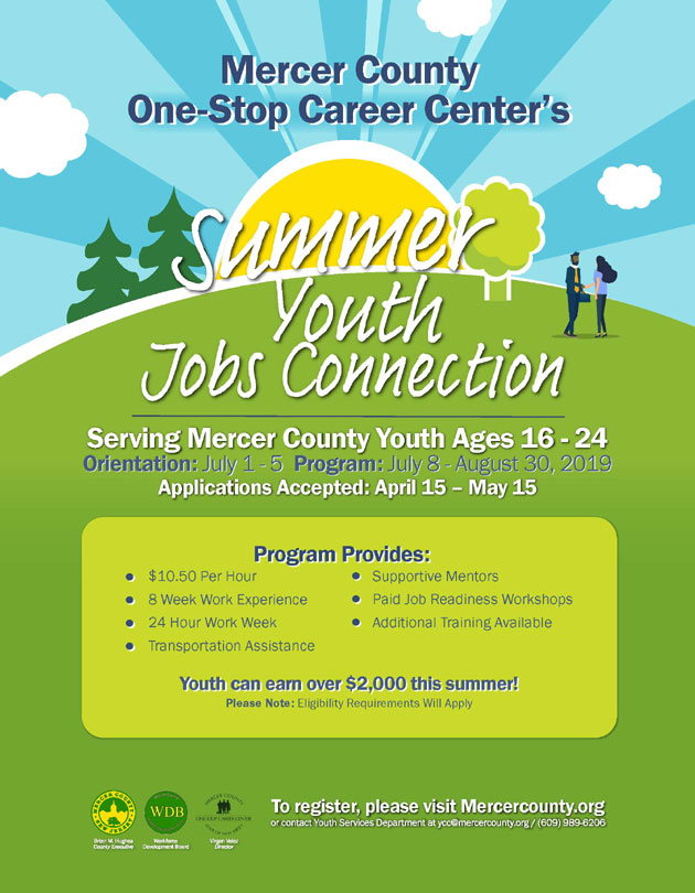 Mercer Summer Youth Jobs Connection 2019