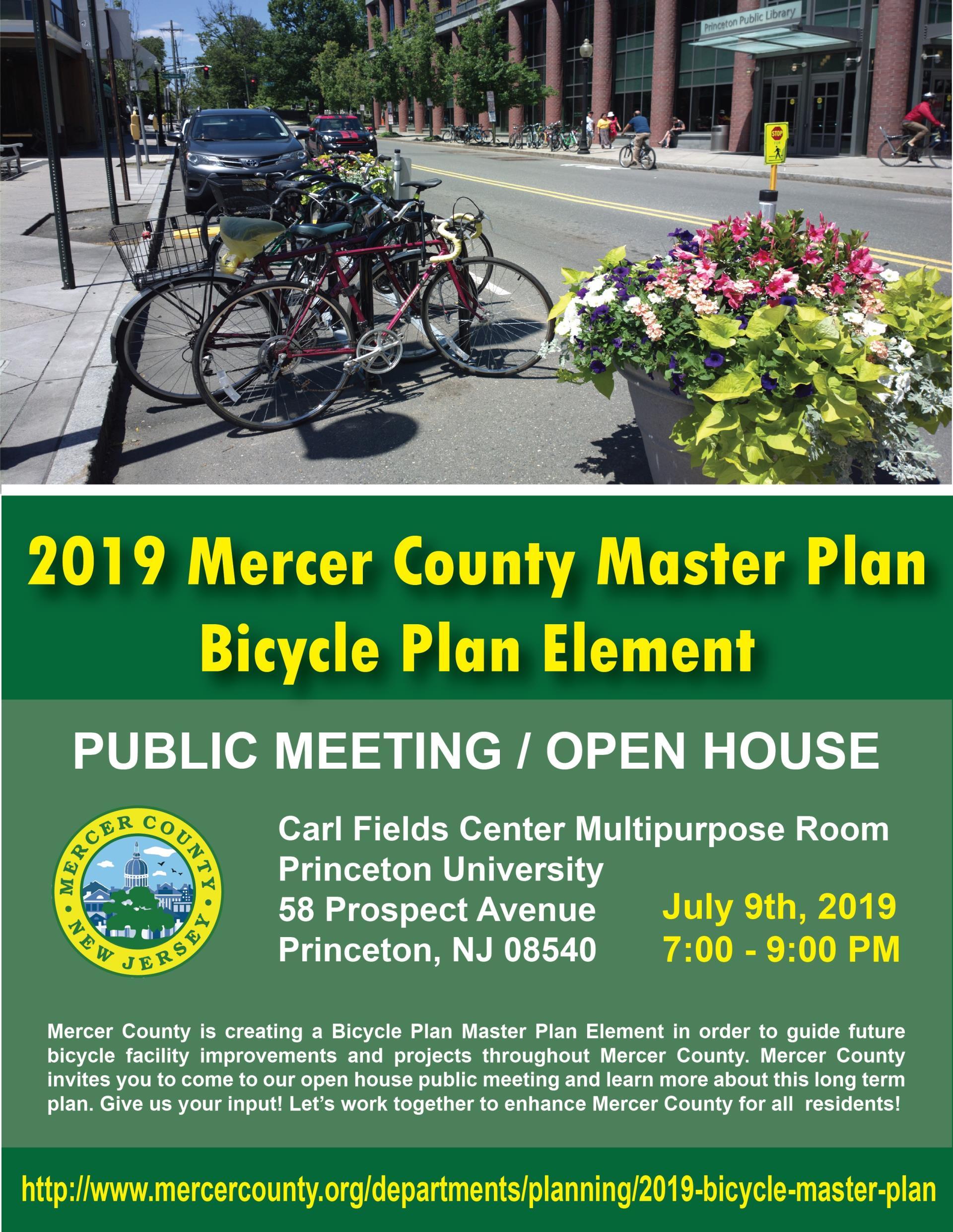 Mercer Calendar 2019 2019 Mercer County Master Plan Bicycle Plan Element Public Meeting
