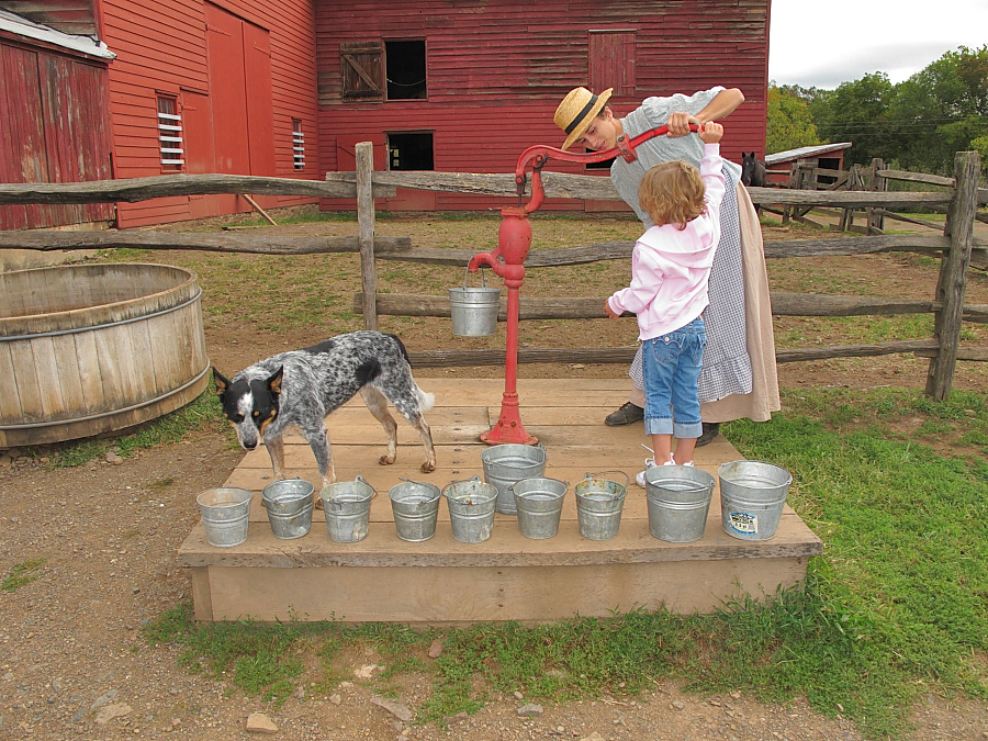 Pumping water - Howell Farm